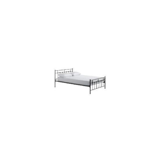 Caen Double Bed, Black