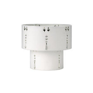 Photo of Tesco Insert Droplet Two Tier Shade, Pearl White Lighting