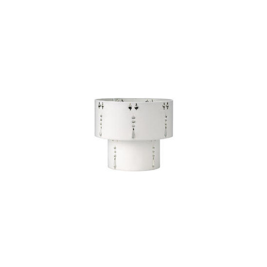 Tesco Insert Droplet Two Tier Shade, Pearl White