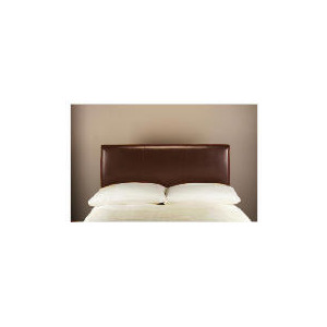 Photo of Pablo Bi-Cast Leather Double Headboard, Brown Bedding