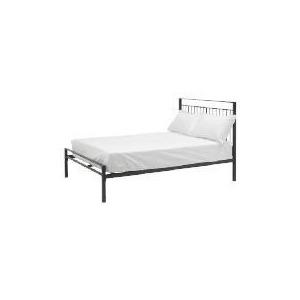 Photo of Mezen Double Bed, Black Bedding