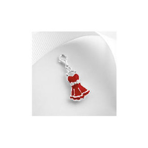 Photo of Sterling Silver Red Enamel Dress Charm Jewellery Woman