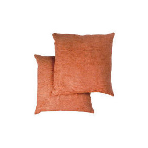 Photo of Tesco Large Chenille Cushion , Terracotta Cushions and Throw