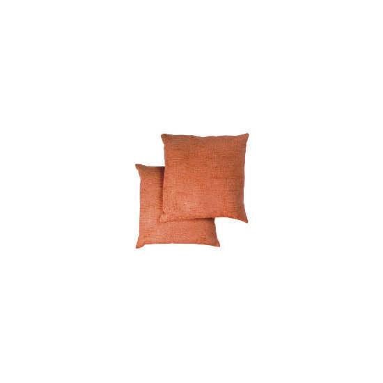 Tesco Large Chenille Cushion , Terracotta