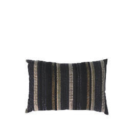 Tesco Striped Stab Stitch Cushion , Black Reviews