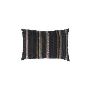 Photo of Tesco Striped Stab Stitch Cushion , Black Cushions and Throw