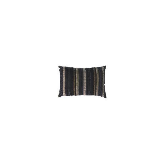 Tesco Striped Stab Stitch Cushion , Black