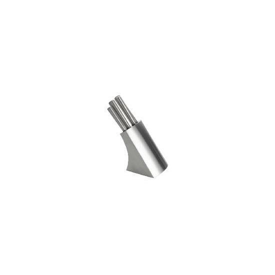 Tesco Stainless Steel Hollow Handle Knife Block