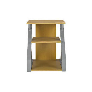 Photo of Asaro 2 Shelf Printer Stand, Silver and Oak Effect Furniture