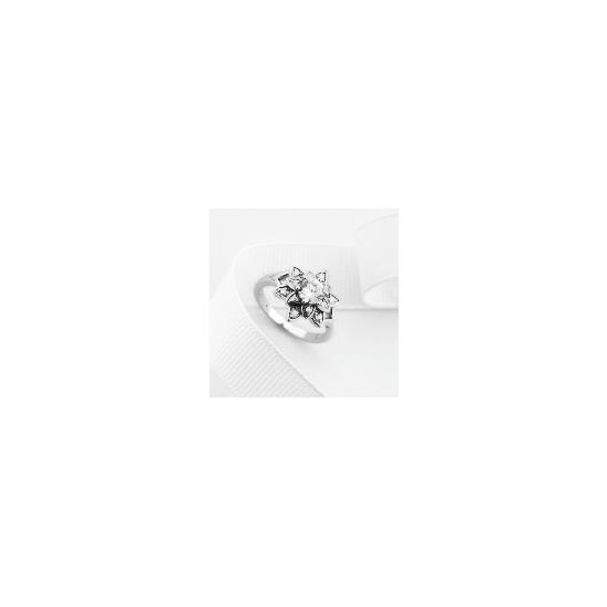 Sterling Silver Cubic Zirconia Ring, Medium