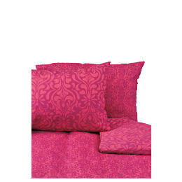 Tesco Damask King Duvet Set, Fuschia Reviews