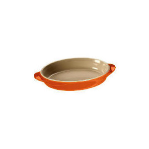 Photo of Le Creuset Curve Stoneware 25CM Oval Baking Dish Flame Cookware