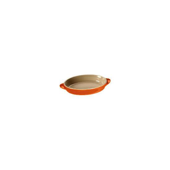 Le Creuset Curve stoneware 25cm oval baking dish Flame