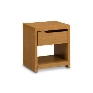 Photo of Seattle 1 Drawer Side Table, Oak Effect Furniture
