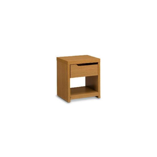 Seattle 1 drawer Side Table, Oak effect