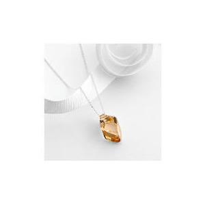 Photo of Swarovski Sterling Silver Golden Shadow Crystal Pendant Jewellery Woman