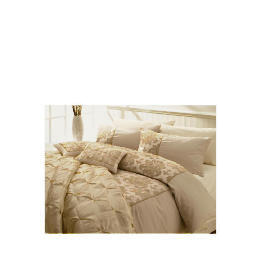 Tesco Flock Damask Double Duvet Set, Gold Reviews