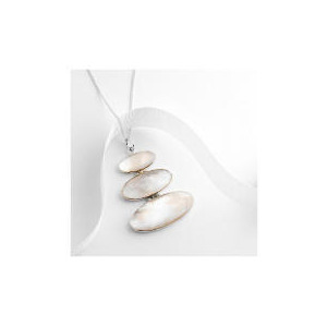 Photo of Sterling Silver Mother Of Pearl Pendant Jewellery Woman