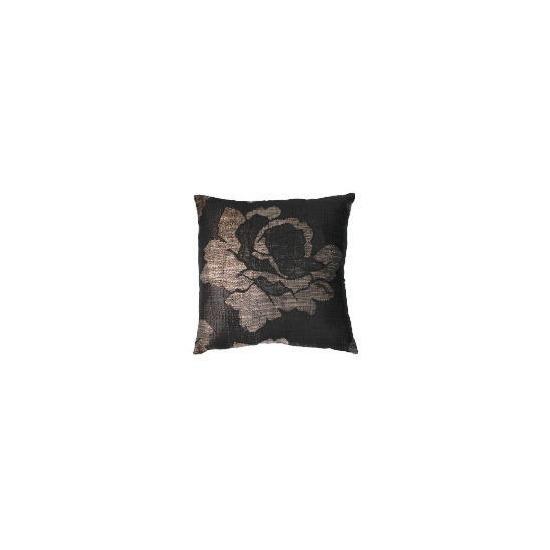 Tesco Rose Jaquard Cushion , Chocolate