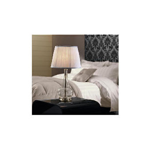 Photo of Tesco  5* Hotel Large Glass Base Table Lamp Lighting