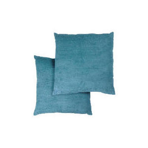 Photo of Tesco Large Chenille Cushion , Teal Cushions and Throw