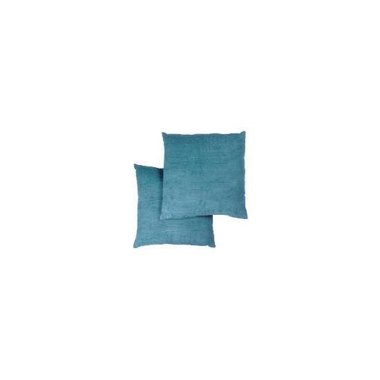Tesco Large Chenille Cushion , Teal