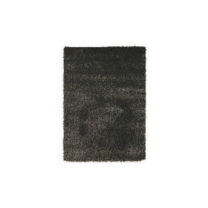 Photo of Tesco Mixed Yarn Shaggy Rug,  Black 120X170CM Furniture