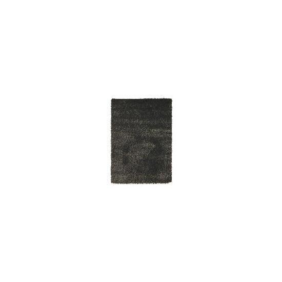 Tesco Mixed Yarn Shaggy Rug,  Black 120x170cm