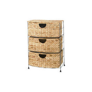 Photo of Water Hyacinth 3 Drawer Unit Household Storage