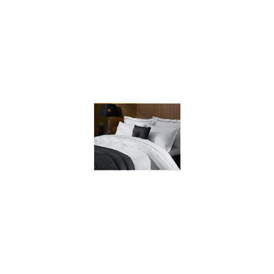 Hotel 5* Jacquard Check Double Duvet Set, White