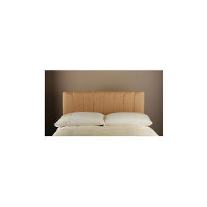 Photo of Haddon Faux Suede King Headboard, Caramel Bedding