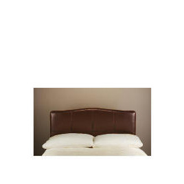 Miro Bi-Cast Leather Double Headboard, Brown with Stitching Reviews