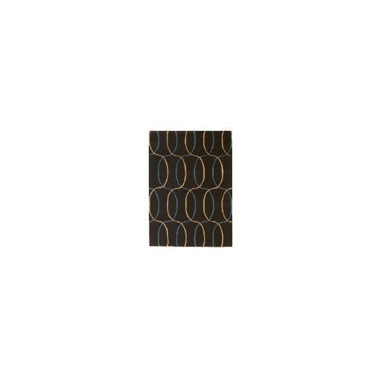 Tesco Circles Geometric Rug, Teal 150x240cm