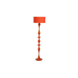 Photo of High Gloss Spindle Floor Lamp, Red Lighting
