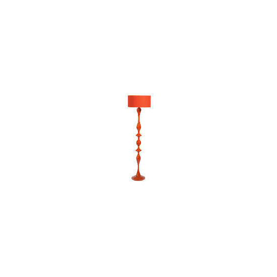 High Gloss Spindle Floor Lamp, Red