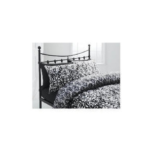 Photo of Tesco Damask Double Duvet Set, Black Bed Linen