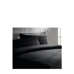 Tesco Lurex Stitch Pinstripe King Duvet Set, Black Reviews