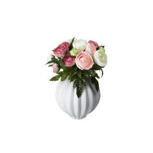 Photo of Ranunculus Posy In White Rib Vase Home Miscellaneou