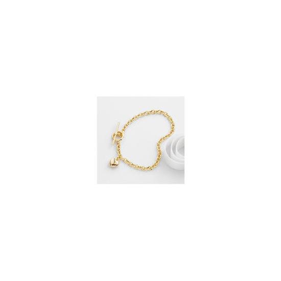 9ct gold heart bracelet
