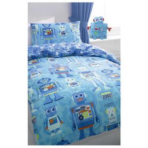 Photo of Tesco Kids Robot Duvet Set Bed Linen