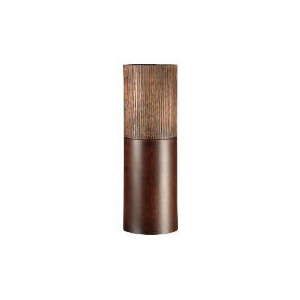Photo of Tesco Wooden Scratched Effect Cylinder Vase Large Home Miscellaneou