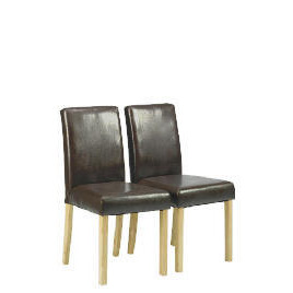 Pair of Campania Faux Leather Chairs, Brown Reviews