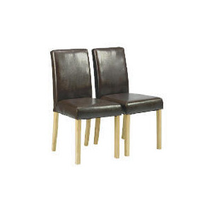 Photo of Pair Of Campania Faux Leather Chairs, Brown Furniture