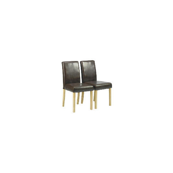 Pair of Campania Faux Leather Chairs, Brown