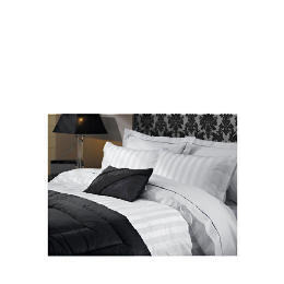 Hotel 5* Satin Stripe Double Duvet Set, White Reviews