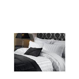Hotel 5* Satin Stripe Double Duvet Set, White Reviews