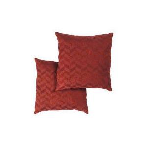Photo of Tesco Metallic Geometric Cushion , Red Cushions and Throw