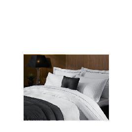 Hotel 5* Jacquard Check Super King Duvet Set, White Reviews
