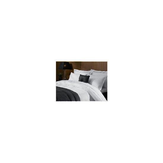 Hotel 5* Jacquard Check Super King Duvet Set, White