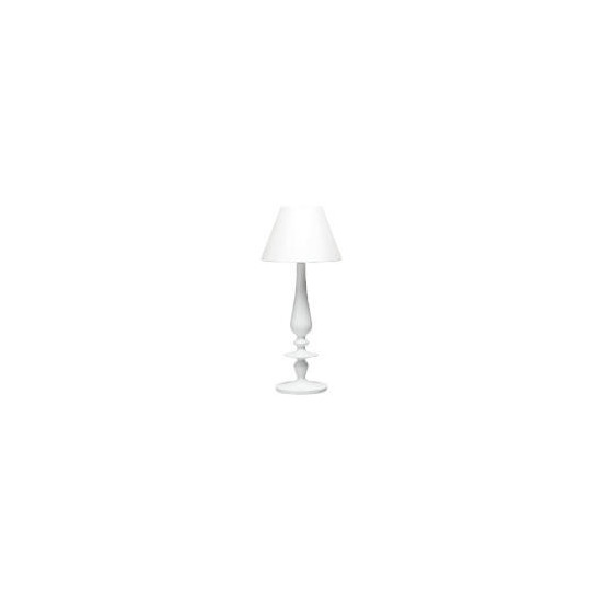 High Gloss Spindle Table Lamp, White